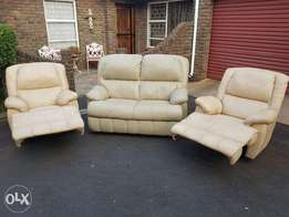 Leather recliners & 2 Seater leather couch