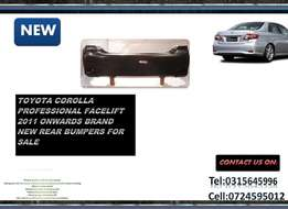 Toyota Corolla Professional Facelift Brand New Rear Bumpers For sale