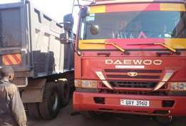 35 Ton Daewoo Dump Truck, 12 tires in very good condition