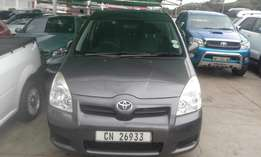 Toyota verso 1.6 grey in color 2008 model 95000km R105000 with nice