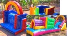 We have a range of jumping castles and water slides