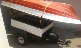 Boat trailer and 3.5 Yamaha motor for sale