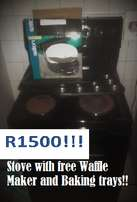 Stove With free Waffle Maker