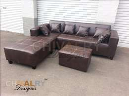 SALE Basic Leather Lounge Suite for R3198.00