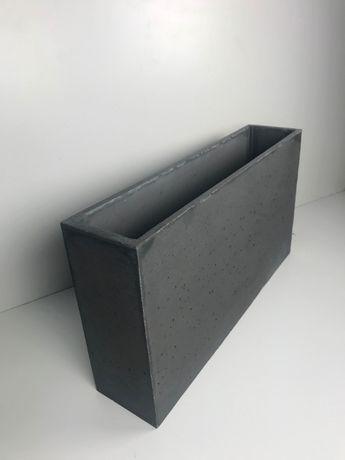 Nowoczesna architektura Donica betonowa Slim 90x20x50 Donice betonowe, beton EN08