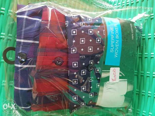 100% cotton superfine woven boxers 3 in a pack Ibadan South West - image 2