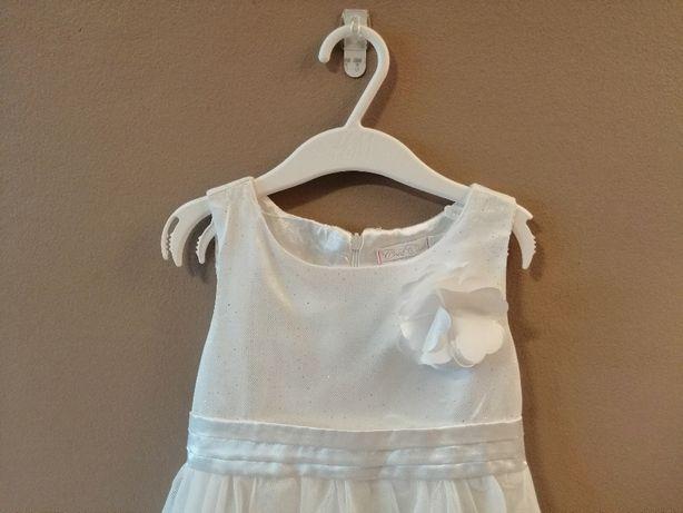 Elegancka sukienka tiulowa ekrii cool club 110 biała z