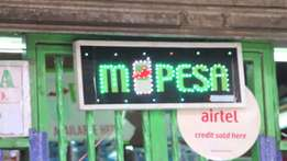 Customised LED Signs, Mpesa LED signs