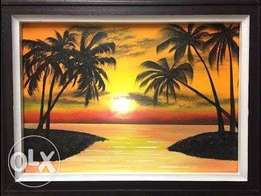 Cool sunset paintings
