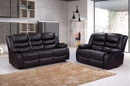 Rivienna 3&2 Luxury Bonded Leather Recliner Sofa Set