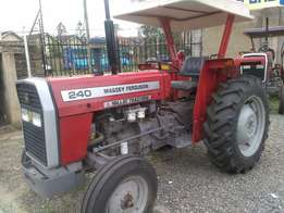 MF240 with 50 horse power with 2 disc plough,Warranty 30 units availab