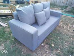 3 seated fabric comforter sofa.made of HD fibre and chips