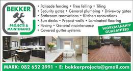 Bekker Projects and maintenance