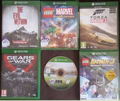 **BARGAIN** XBOX ONE GAMES X 6 R350 EACH in covers or R1700 all