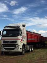 Volvo with dropside sidetipper