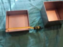 Two High quality heavy duty new stainless steel square fruit cake tins