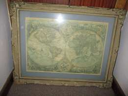 rare one of a kind world map
