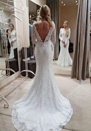 42d467fe0b Wyjątkowa suknia ślubna koronkowa tren stan idealny Agnes Gdynia - image 1
