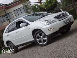 Toyota Harrier pearl white colour 2010 model leather interior