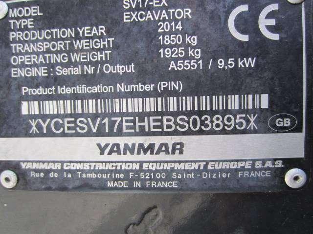 Yanmar Sv 17 - 2014 for sale | Tradus