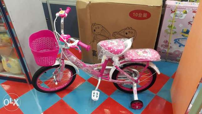 "16"" pink colour bicycle for sale"