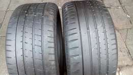2 X 255/40/17 run flats Tyres for sell