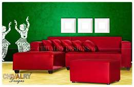 Red L Shaped Couch available for only R3200.00