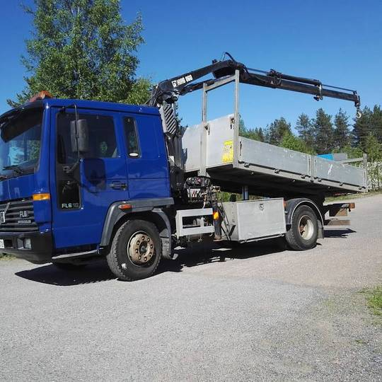 Volvo Fl 610 Hiab 060-2 10v Tark. Kippi Lava Aj.125tkm!! - 1998