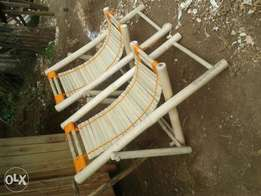 Bamboo relaxing chairs