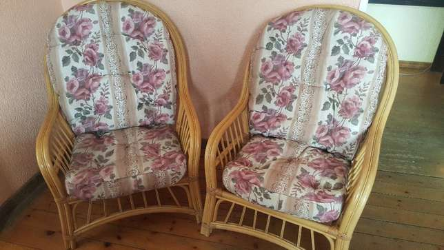 Pair of Cane Chairs With Cushions Kensington - image 1