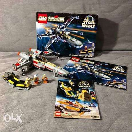 Lego system x wing fighter star wars 7140 لسنه1999 موديل نادر