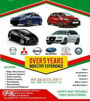 Vehicle repairs and maintainance at any time.
