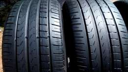2 X 235/40/18 perilli Tyres for sell
