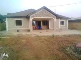 Standard 4bedroom flat bungalow on a full plot for sale at Abiola farm