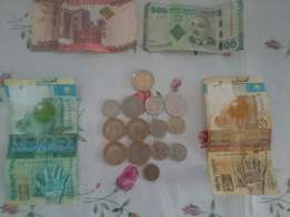 Coins and Cash collection.