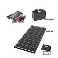 1000W Solar Power Kit (Exclusively Solar Charged)