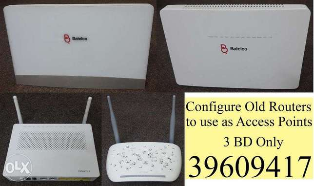 Configure Old Routers to use as Access Points