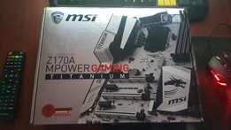 Msi z170A mpower titanium mb only
