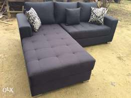 Dark Grey Sectional Sofa.