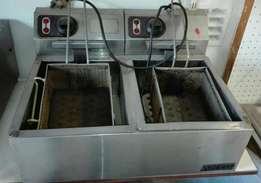 Anvil double deep fryer