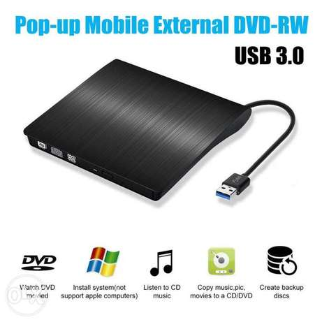 Super Slim Portable USB 3.0 Interface Dual Layer Drive Pop-up Mobile