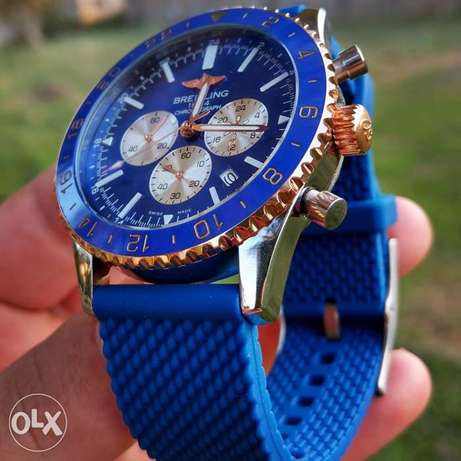 Breitling Rubber Blue Watch