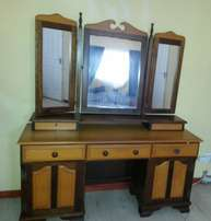 Yellow Wood and St inked Dressing Table