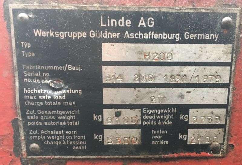 Linde H20D- Duplexmast - Seitenschieber - 1979 - image 11