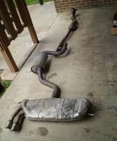 Golf 5 Gti exhaust from middle to back tail pipes