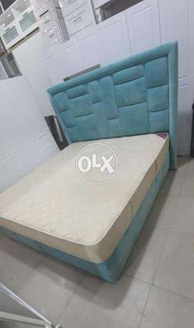 king size bed with matrress free delivery contact whatsapp