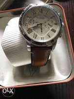 Brown Fossil Chrono Leather Watch