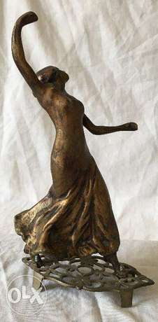 23cm Dancing lady statues from bronze – Antique collectible piece