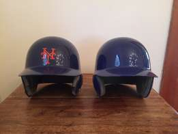 2 x Authentic Baseball Helmets