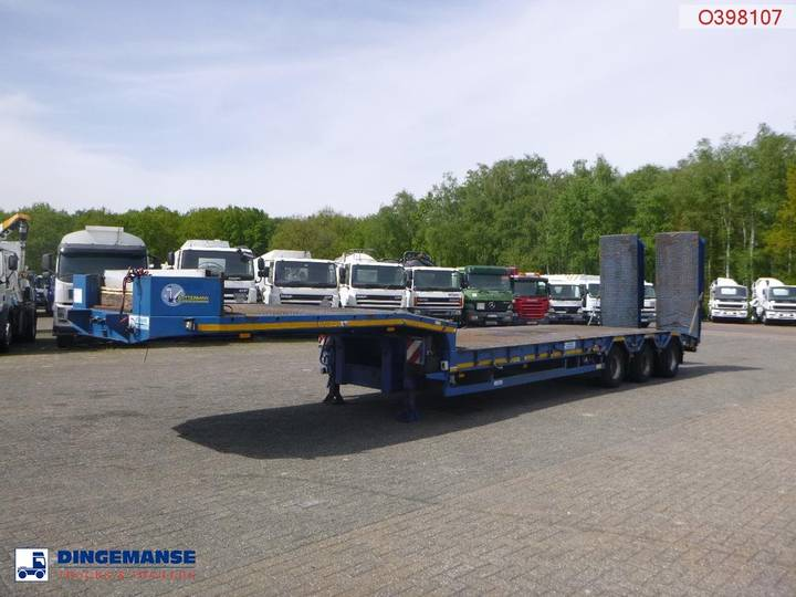 Verem  Semi-lowbed trailer 39 t / 9.1 m + ramps - 2007
